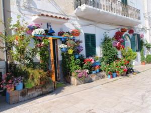 Blumenschmuck in Bari